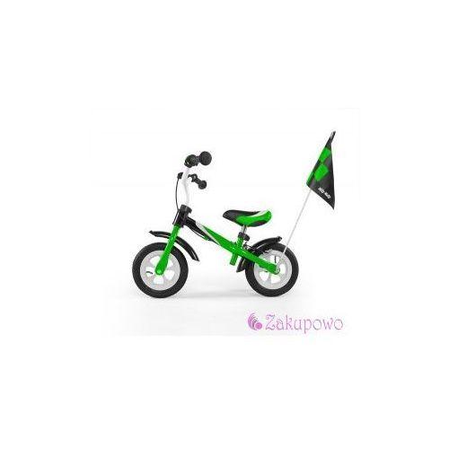 Milly-mally Rowerek biegowy dragon deluxe z hamulcem zielony #b1