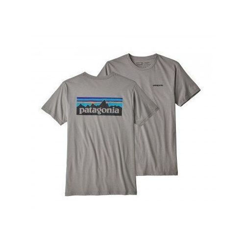 a23b1df34 PATAGONIA Koszulka męska P-6 LOGO NE - rozmiar L - kolor szary - Fotografia