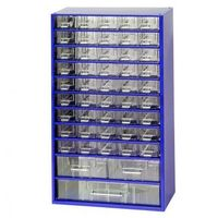 Metalowe szafki z szufladami, 45+2+1 szuflad
