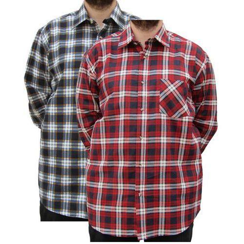 Koszula flanelowa z długim rękawem kratka czerwona, Cotton valley - 2