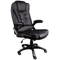 Giosedio Fotel biurowy bruno czarny (biała nić) (5902751540123)