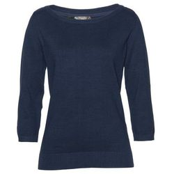 Sweter z asymetryczną linią dołu czarny marki Bonprix
