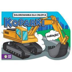 Praca zbiorowa Koparki, kolorowanki dla chłopców - zielona sowa