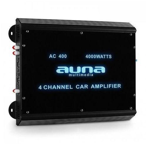 Auna 4-kanałowy wzmacniacz samochodowy360W RMS 4000W max.Akryl