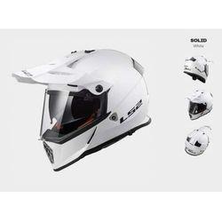KASK MOTOCYKLOWY CROSS ENDURO LS2 MX436 PIONEER EVO GLOSS WHITE, kolor biały