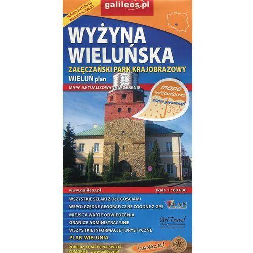 Wyżyna Wieluńska Załęczański Park Krajobrazowy Wieluń plan 1:60 000 (2 str.)