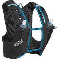 CamelBak Ultra Pro Kamizelka z systemem nawadniającym z miękkim bidonem Quick Stow, black/atomic blue L 2020 Plecaki do biegania