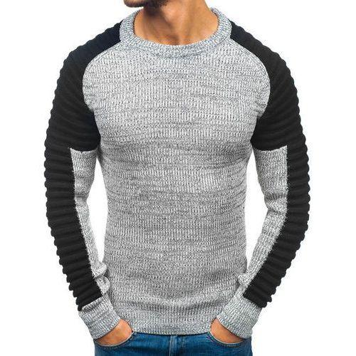 5972eed23e36 OXCID Sweter męski szaro-czarny Denley 157