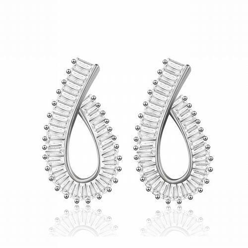 Kol 599/633 kolczyki wiszące, srebrne, cyrkonie Mak-biżuteria