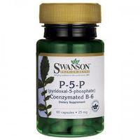 Kapsułki Swanson Witamina B6 P-5-P (koenzymatyczna) 25mg - (60 kap)