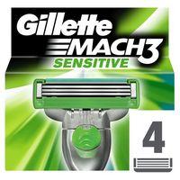 Gillette Mach 3 Sensitive zapasowe ostrza 4 szt. (Spare Blades) 4 szt. (7702018037896)