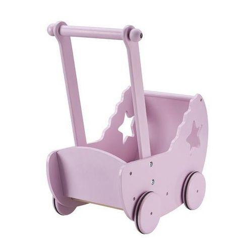 Wózek dla lalek z gwiazdką różowy Kids concept