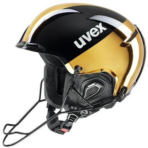 Kask narciarski jakk+ black gold 59-61 l 566/223/20/07 marki Uvex