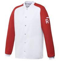 Kitel, długi rękaw, rozmiar l, biało-czerwony | , vintage marki Robur