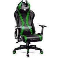Fotel DIABLO CHAIRS X-One Horn (L) Czarno-zielony