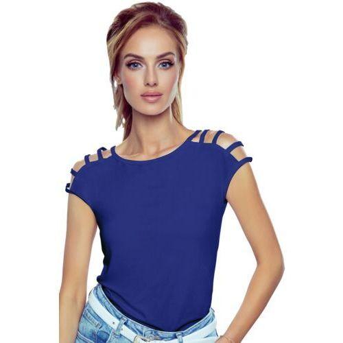 Daria bluzka damska romantica top granatowa - granatowy marki Eldar