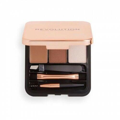 Makeup revolution zestaw do brwi brow sculpt kit brown - Rewelacyjny rabat