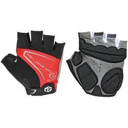 07-130565 Rękawiczki rowerowe AuthorLady Comfort Gel czarno-czerwone L