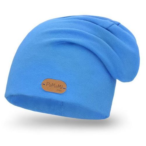 Wiosenna czapka PaMaMi - Chabrowy - Chabrowy