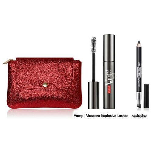 Vamp! mascara explosive lashes | zestaw do makijażu: tusz do rzęs 9ml + kredka do oczu + torebka Pupa - Rewelacyjny upust