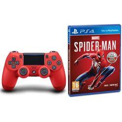 Sony DualShock 4 v2 (czerwony) + Marvel's Spider-Man, KAK4DUALS4SPID