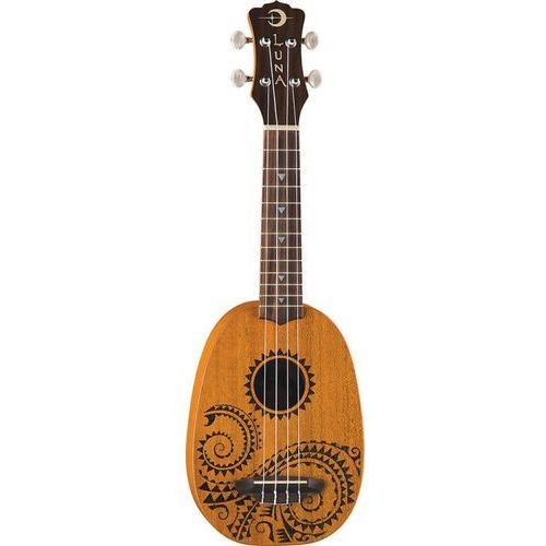 Luna Mahogany Tattoo Soprano Pineaple - ukulele sopranowe (0852688890752)