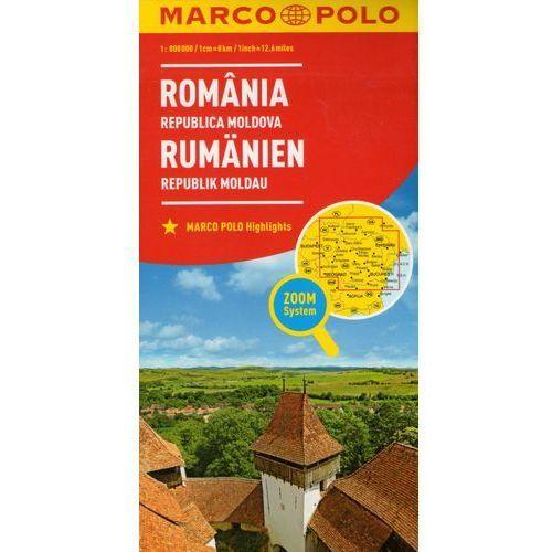 Marco Polo Mapa Samochodowa Rumunia, Mołdawia 1:800 000 Zoom (9783829738408)