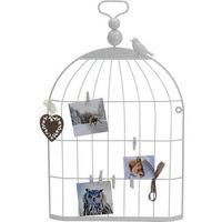 Ozdobna klatka dla ptaków - wieszak na zdjęcia, kartki, notatki...