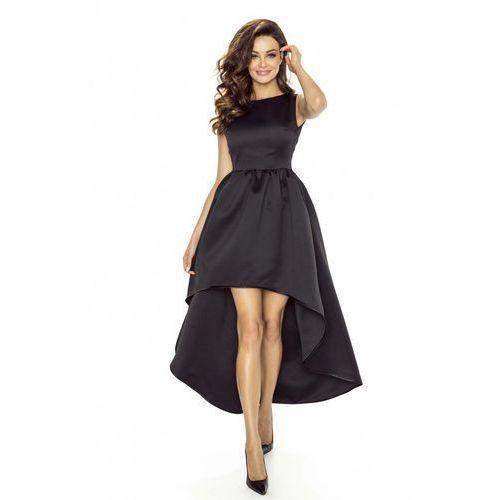 Czarna Sukienka Asymetryczna Wieczorowa, asymetryczna