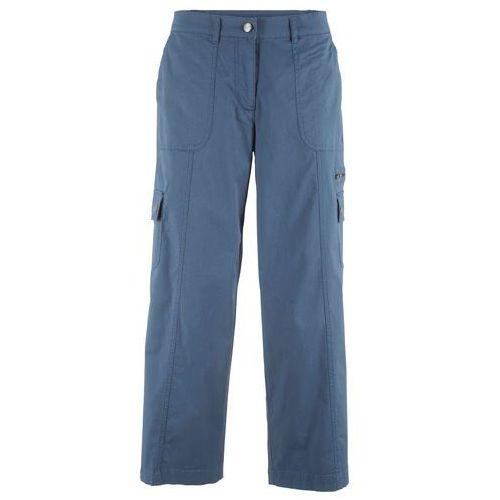 Spodnie bojówki bonprix zielony khaki, bawełna