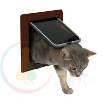 Trixie drzwiczki wahadłowe dla kota 4-funkcyjne: kolor - brązowy