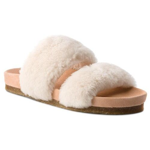 8c6fc3f87 Tory Burch Klapki TORY BURCH - Sheldon Shearling Two 50166 Natural 254