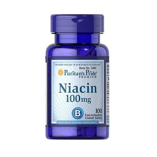 Tabletki Puritan's Pride Niacyna (Witamina B3) 100mg 100 tabl