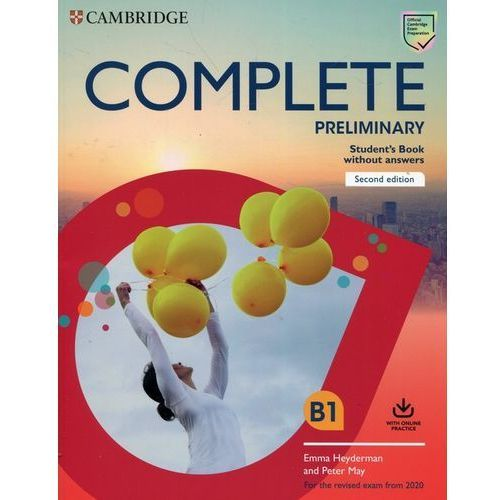 Complete Preliminary Student's Book without Answers with Online Practice (9781108525213)