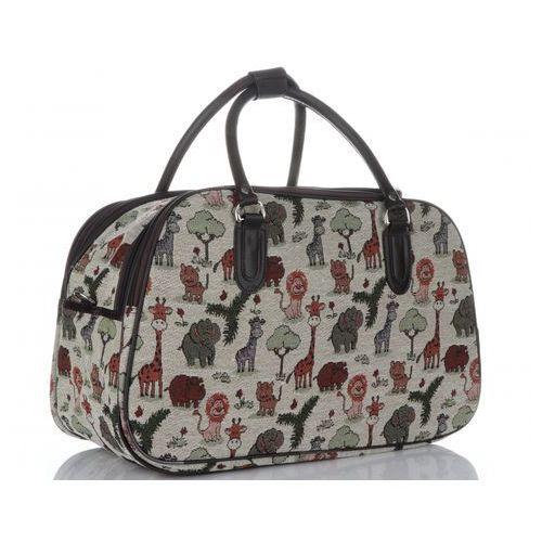 49b00afb6 Mała torba podróżna kuferek zoo multikolor - beżowa (inne wzory) marki  Or&mi - galeria