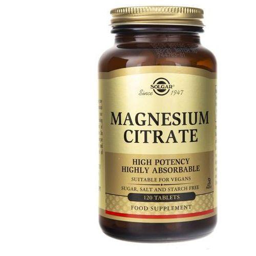 Tabletki Solgar Cytrynian Magnezu - 120 tabletek