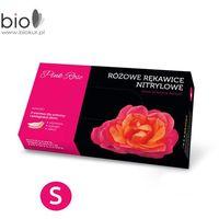 Rękawice nitrylowe pink rose z alantoiną i kolagenem rozmiar s - 100 szt marki Doman