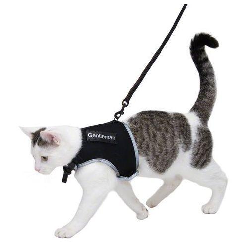 Trixie szelki dla kota xcat z naklejkami i smyczą - czerwony (4011905418964)