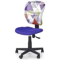 Wentylowany fotel młodzieżowy Cziko - fioletowy w trójkąty, V-CH-JUMP-FOT-FIOLETOWY
