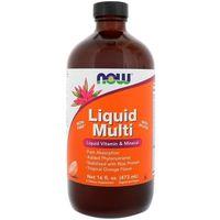 Kompleks witamin i minerałów NOW Foods Liquid Multi Tropcial Orange ( Iron Free) 473ml Najlepszy produkt