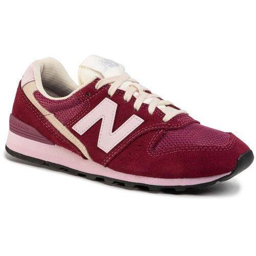 New balance Sneakersy - wl996svb bordowy