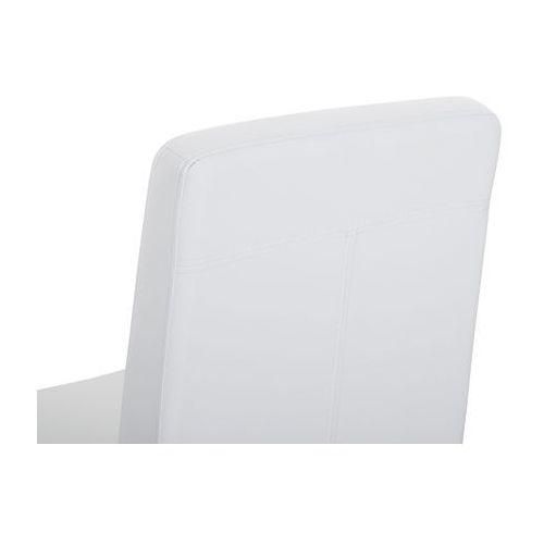 Beliani Zestaw do jadalni 2 krzesła białe stal nierdzewna arctic (4260602376439)