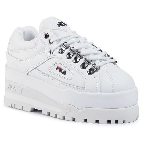 Sneakersy Trailblazer Wedge Wmn 5HM00524.125 White Navy Red, kolor biały (Fila)