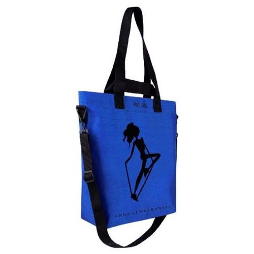 - torba cargo healthy plan by ann niebieska+ lunch box na sałatki marki Healthy plan by ann