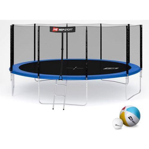 Trampolina Hop-Sport 16FT (488 cm) niebieska