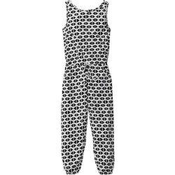 Kombinezon czarno-biały wzorzysty marki Bonprix