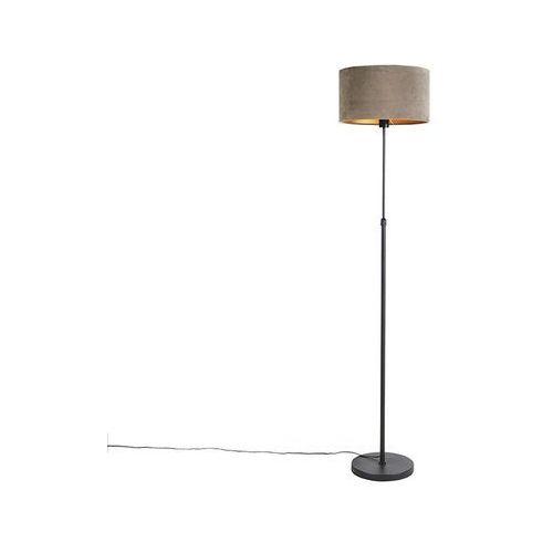 Lampa podłogowa regulowana złotamosiądz klosz biały 45cm parte (QAZQA)