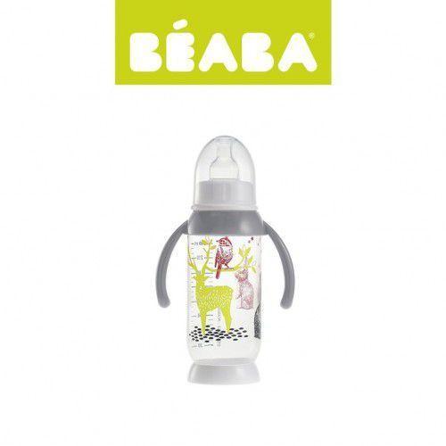 Beaba Butelka antykolkowa z uchwytem 240ml Bunny grey