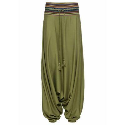 62b7fefe099d0c Spodnie damskie bonprix, Kolor: zielony, Rozmiar: 36 ceny, opinie ...