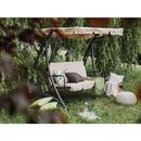 Huśtawka beżowa - meble ogrodowe - stal - ławka - TEMPLE